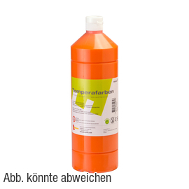Temperafarbe orange, 1000 ml Artikelbild Vorderansicht M