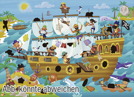 Magic-Puzzle Piratenschiff Artikelbild Vorderansicht M