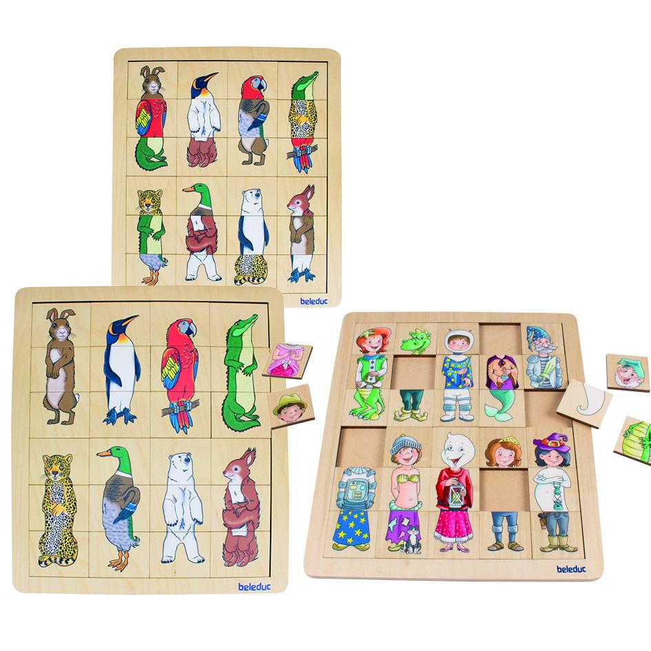 2tlg Set Puzzle Holz Piraten Tiere Kinder NEU Holzspielzeug