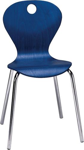 Joya Stuhl, Sitzhöhe 46 cm, Farbe blau - Stühle
