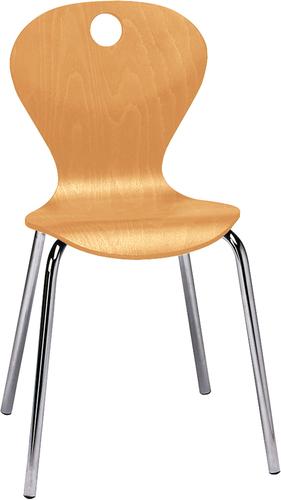 Joya Stuhl, Sitzhöhe 35 cm, Buche natur - Stühle