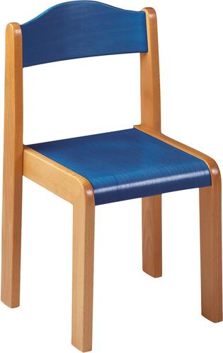 SIT-Stuhl, Sitzhöhe 46 cm, blau gebeizt - Stühle